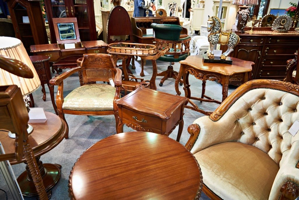 antique furnitures made of wooden materials